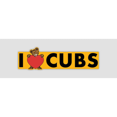I LOVE CUBS Sticker