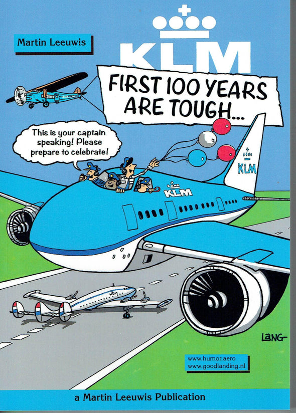 KLM FIRST 100 YEARS ARE TOUGH Cartoon Book