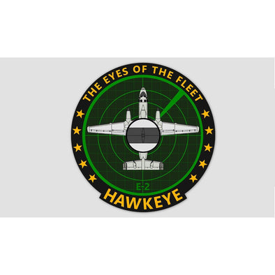 "E-2 HAWKEYE ""THE EYES OF THE FLEET"" Sticker"