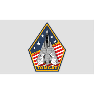 "F-14 TOMCAT ""ANYTIME, BABY...!"" Sticker"