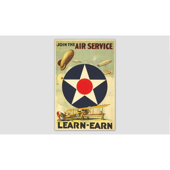 "JOIN THE AIR SERVICE ""LEARN-EARN"" Sticker"