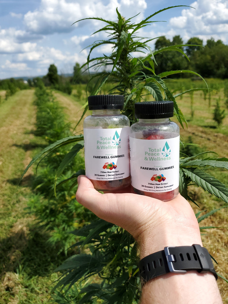 Total Peace and Wellness CBD Farewell Sleep Gummies with Melatonin