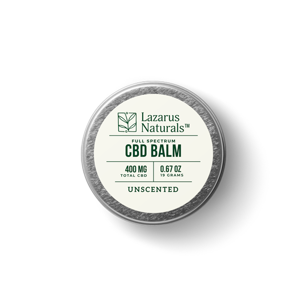 Lazarus Naturals Full Spectrum 400mg Unscented Balm