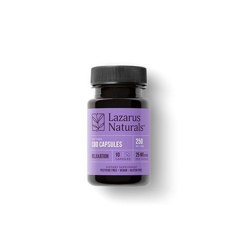 Relaxation Blend 25mg CBD Isolate Capsules
