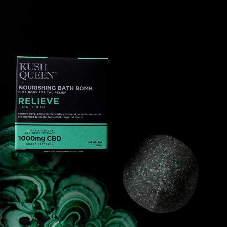 Kush Queen Relieve 1000mg CBD Bath Bomb