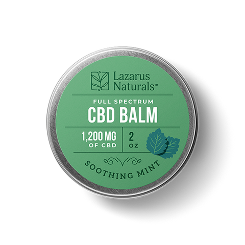 Lazarus Naturals Soothing Mint Full Spectrum 1200mg Balm
