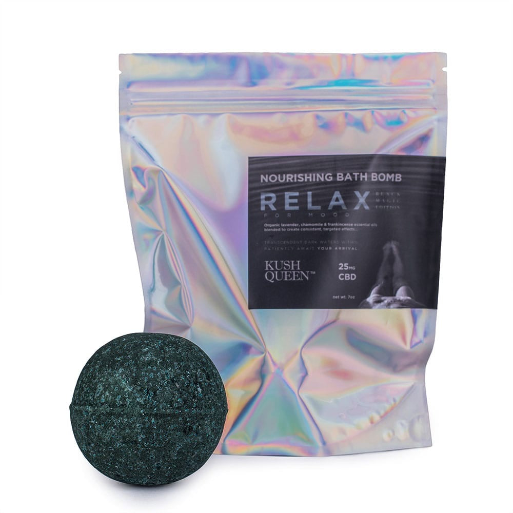 Kush Queen Black Magic Relax CBD Bath Bomb 25mg