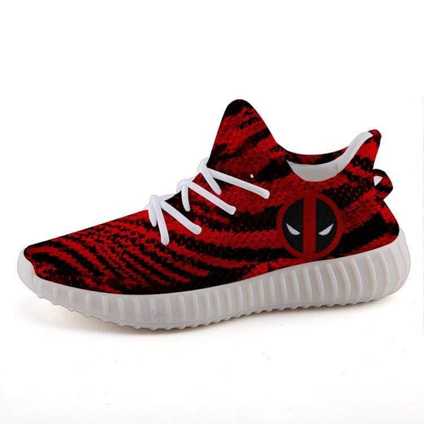 online store a3284 dc47c Deadpool Style Red Zebra Unisex Yeezy 350 v2 Ultra Boost Shoes