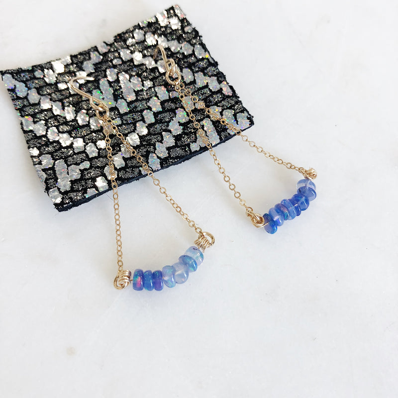 Blue Opal Dangle Earrings - Gypset