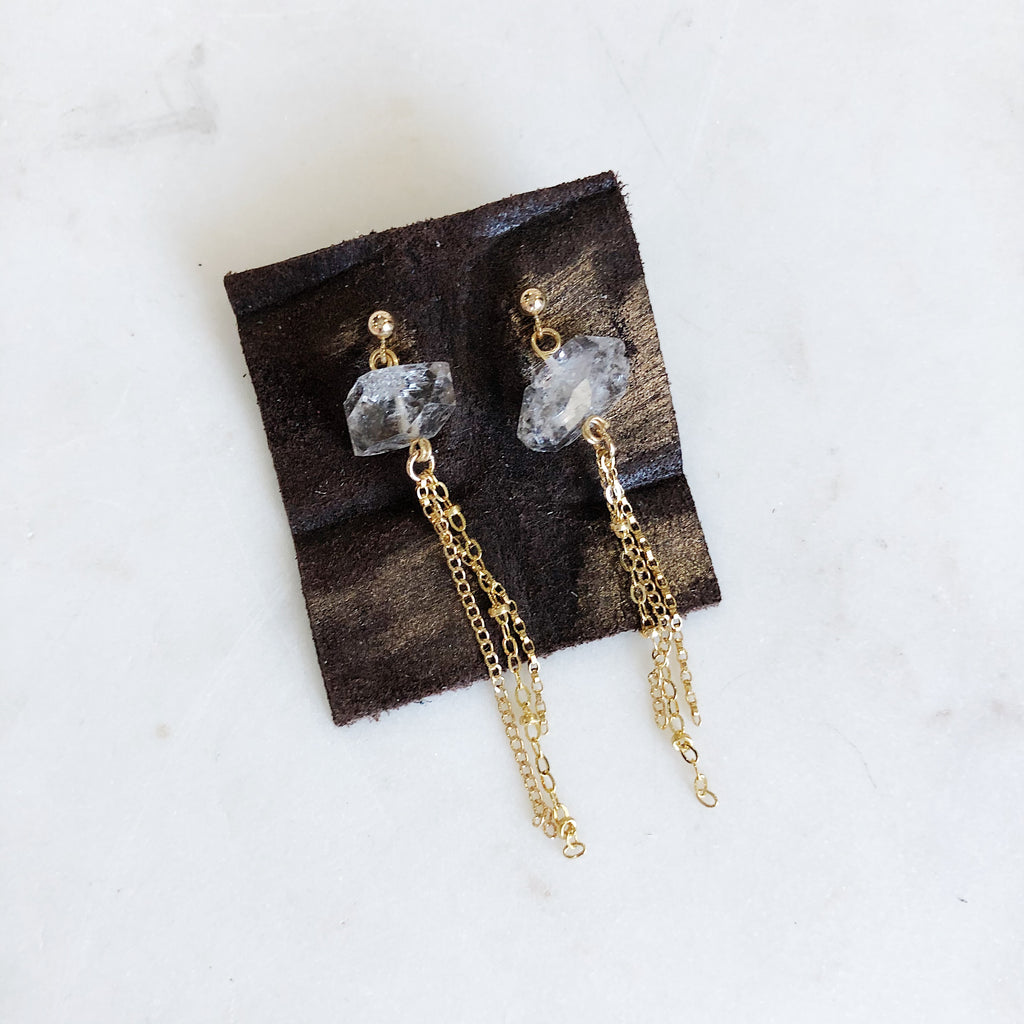 Herkimer Tassel Earrings - Gypset