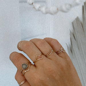 Chevron Gold Stacker Ring