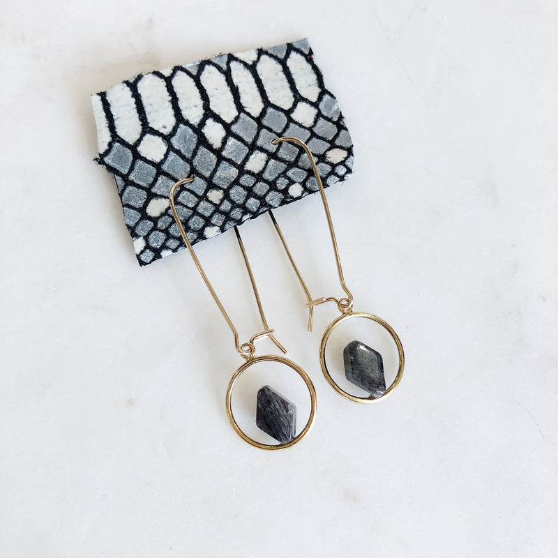 Geometric Threader Earrings - Gypset