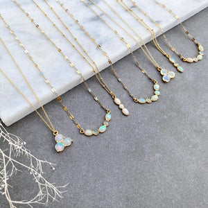 Opal Cluster Necklace