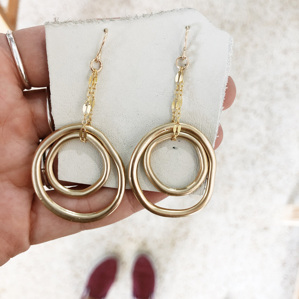 Inner Circle Dangle Earrings