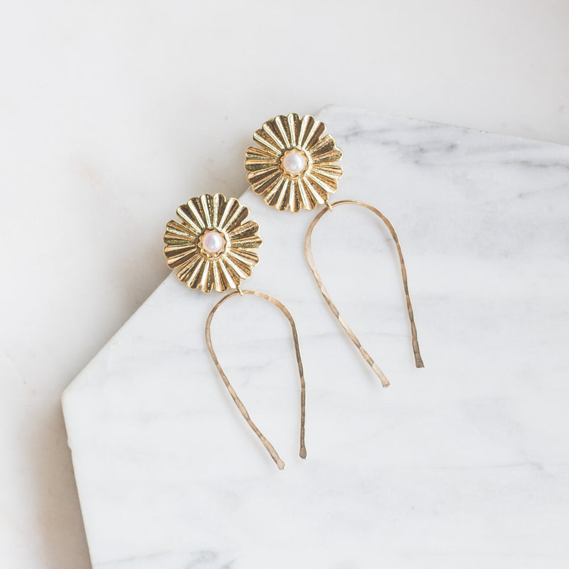 Dramatic Flower Stud Earrings