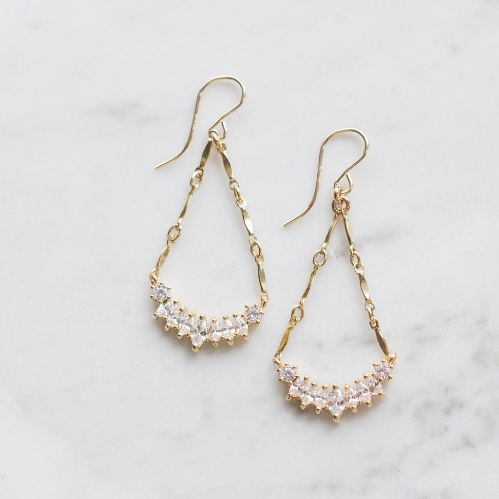 Crystal Dangle Holiday Earrings
