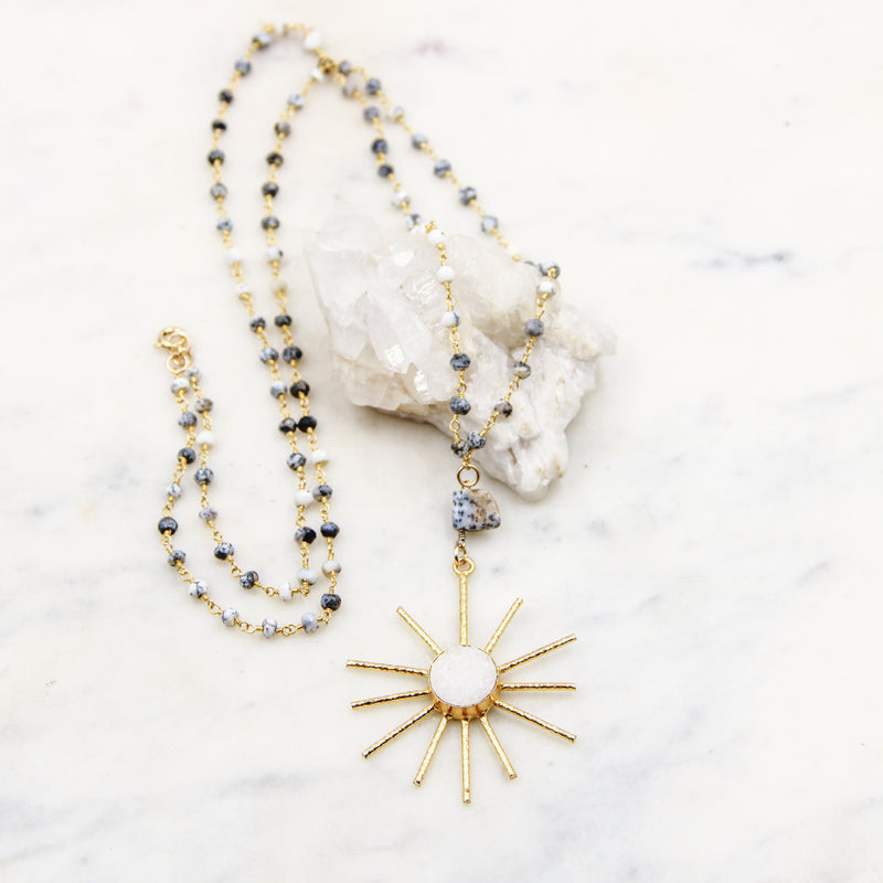 Sunburst Rosary Necklace