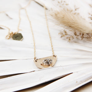 Desert Sky Diamond Moon Necklace