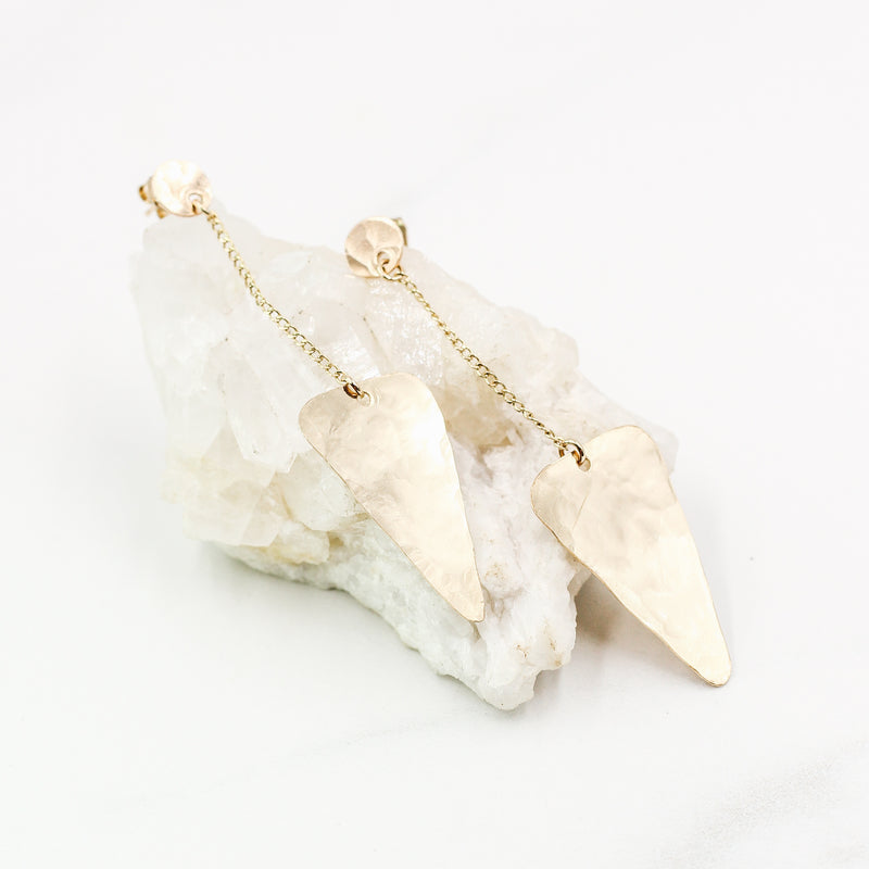 Modest Arrowhead Earrings