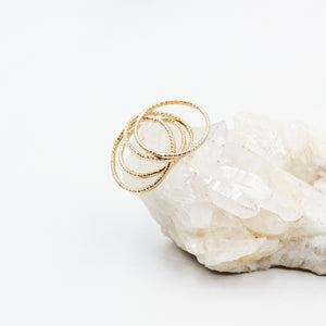 Hundred Stacks Gold Stacker Ring