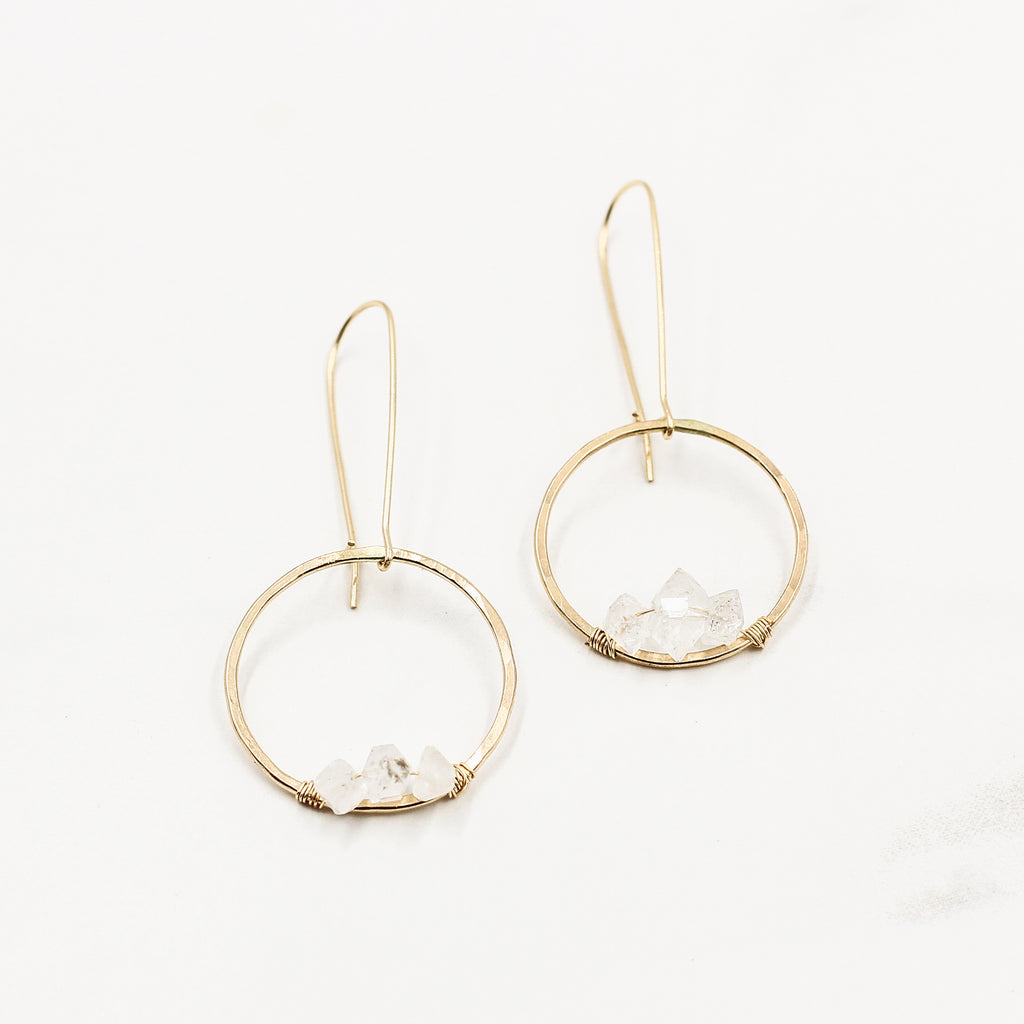 Infinite Salinas | Herkimer Diamond Hoop Earrings
