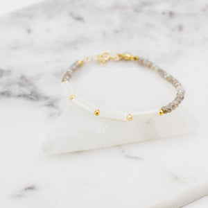 Breakers | Pearl + Labradorite Beaded Bracelet - Gypset