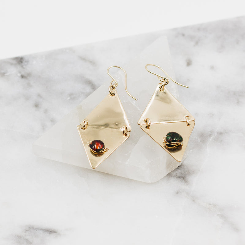 Black Mirrors | Opal Earrings