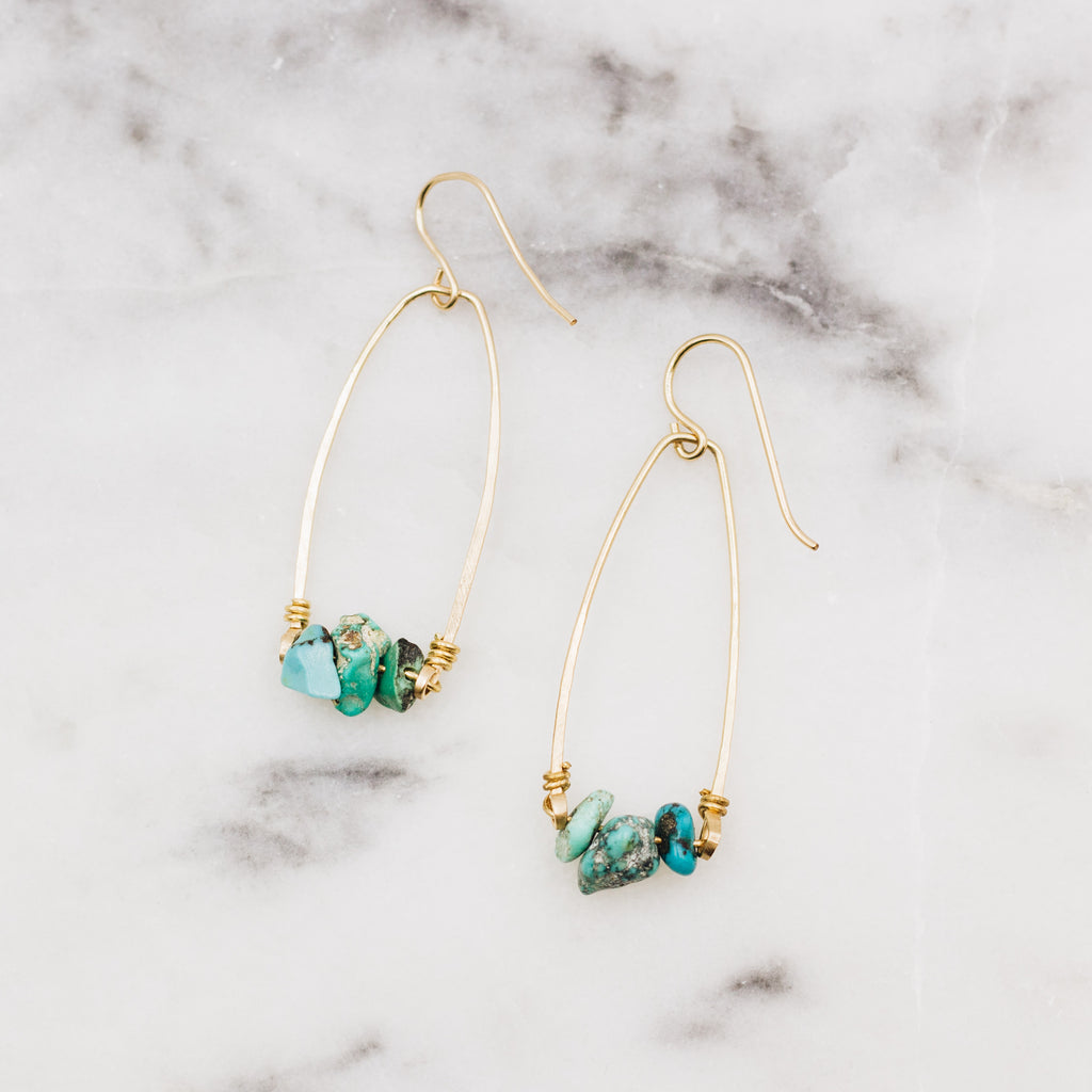 Oceans Edge | Turquoise Dangle Earrings