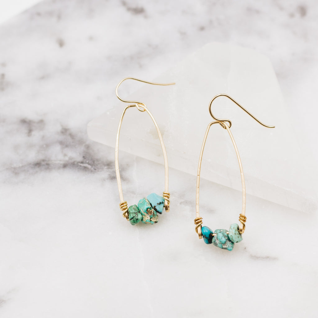 Oceans Edge | Turquoise Dangle Earrings - Gypset