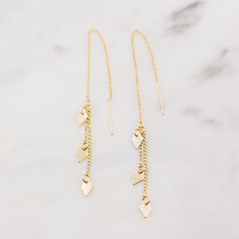 Gold Wanderlust Threader Earrings
