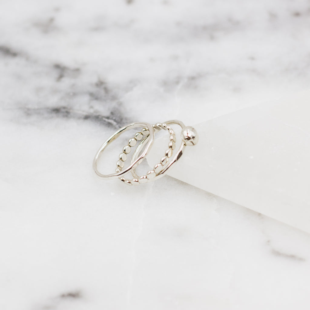 Silver Dreams Stacker Ring Set