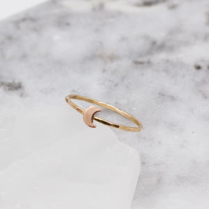 Baby Moon Stacker Ring