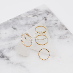 Dotted Line Stacker Ring - Gypset