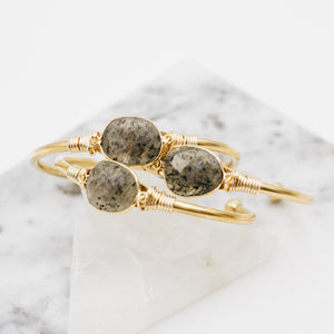 Salt & Pepper Quartz Cuff Bracelet