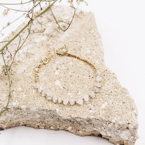 Salinas | Herkimer Diamond Beaded Bracelet