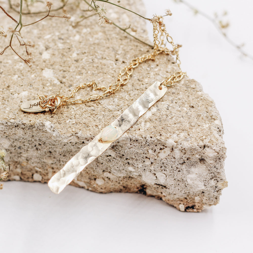 Long Road Opal Bar Necklace - Gypset