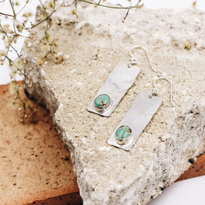 Navajo Princess Turquoise Bar Earrings