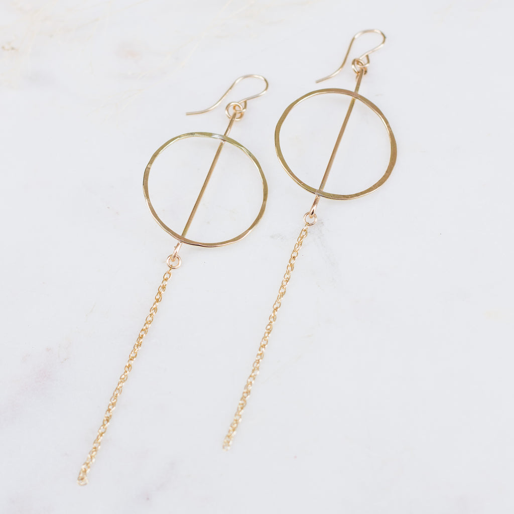 Del Sur | circle bar earrings