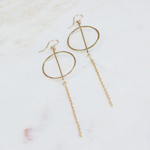 Del Sur | circle bar earrings - Gypset