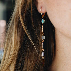 Cascade Opal Drop Earrings