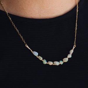 Opal Collar Necklace