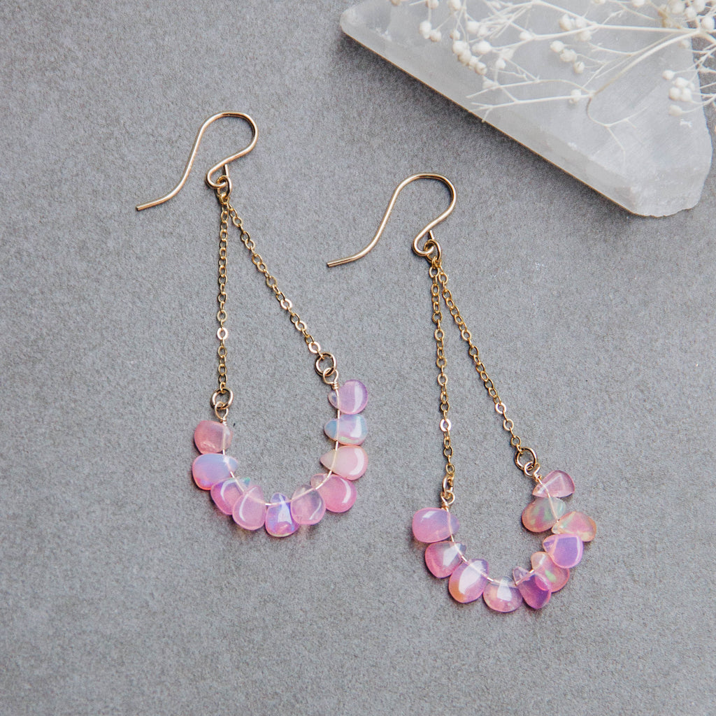 Pink Lady Opal Chandelier Earrings - Gypset