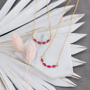 Pink Tourmaline Petal Necklace - Gypset