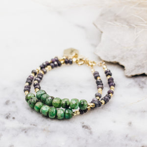 Emerald Row Beaded Bracelet