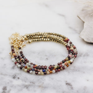 Tiny Gemstone Bracelet