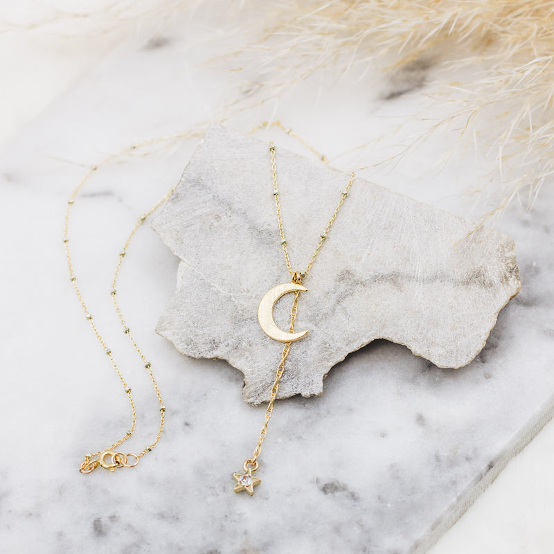 Night Fall Lariat Necklace