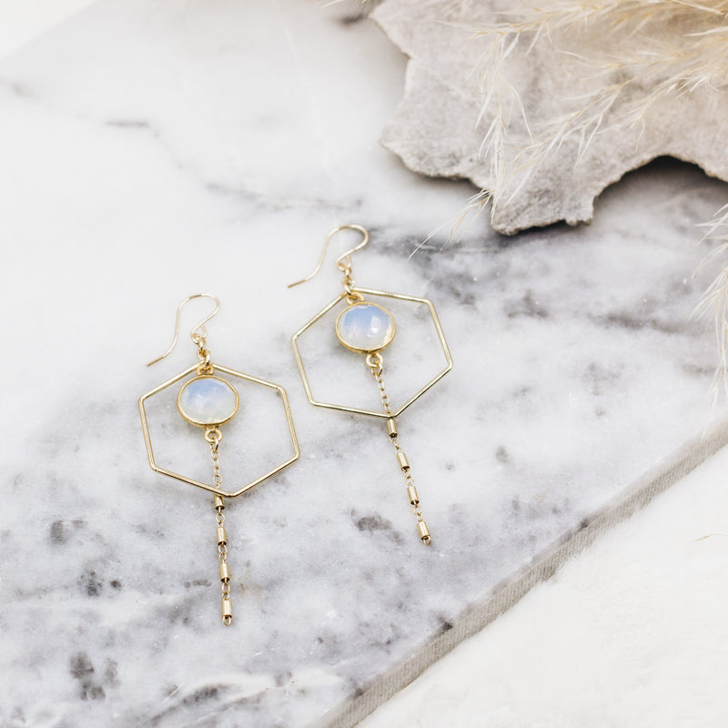 Geometric Opalite Earrings