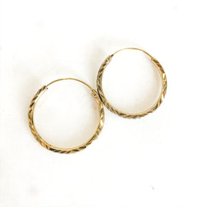 Vintage Filigree Hoop Earrings - Gypset