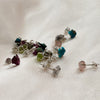Raw Gemstone Stud Earrings