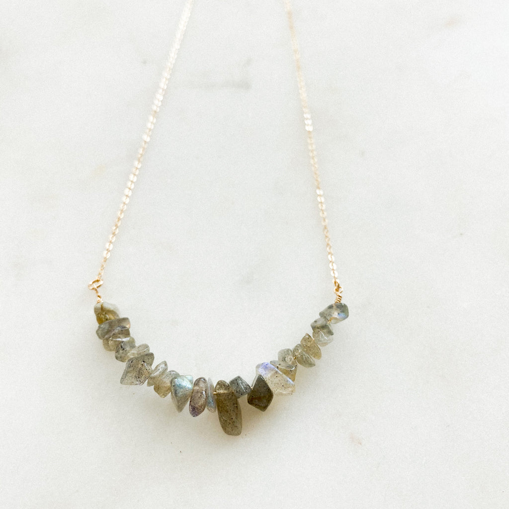Labradorite Chip Layering Necklace - Gypset